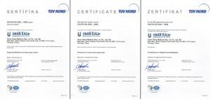 ISO 9001 Kalite Yönetim Sistemi Sertifikası IAF (2014-2017 Arası)