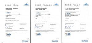 ISO 9001 Kalite Yönetim Sistemi Sertifikası IAF (2007-2010 Arası)