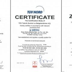 ISO 9001 Kalite Yönetim Sistemi Sertifikası TÜRKAK (2007-2010 Arası)