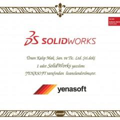 Solidworks ''Şirket Lisans'' Sertifikası