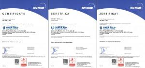 ISO 9001 Kalite Yönetim Sistemi Sertifikası TÜRKAK (2021-2023 Arası)
